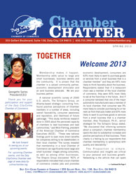 2013 Spring Edition of the Daly-City-Colma Chamber Chatter