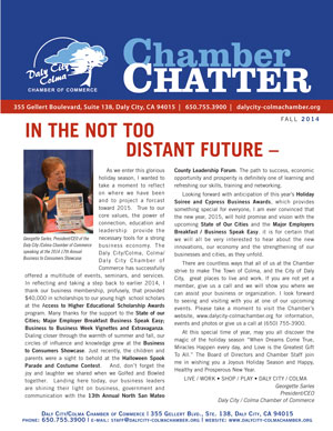 2014 Fall Edition of the Daly City/Colma Chamber Chatter