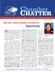 2015 Summer  Edition of the Daly City/Colma Chamber Chatter