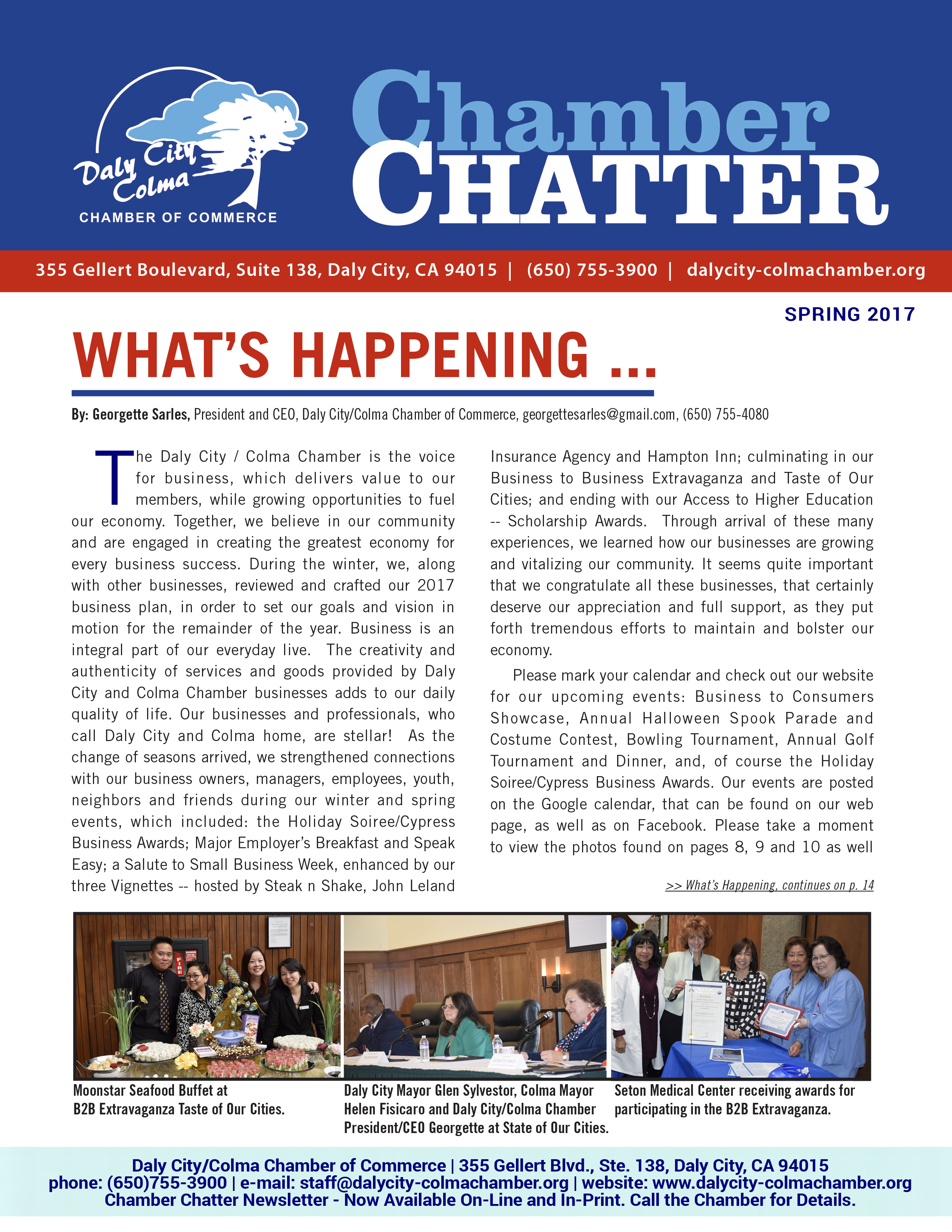 2017 Spring Edition of the Daly City/Colma Chamber Chatter